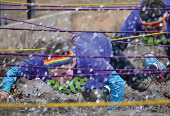 GETTING DOWN AND DIRTY IN THE MUD PIT.